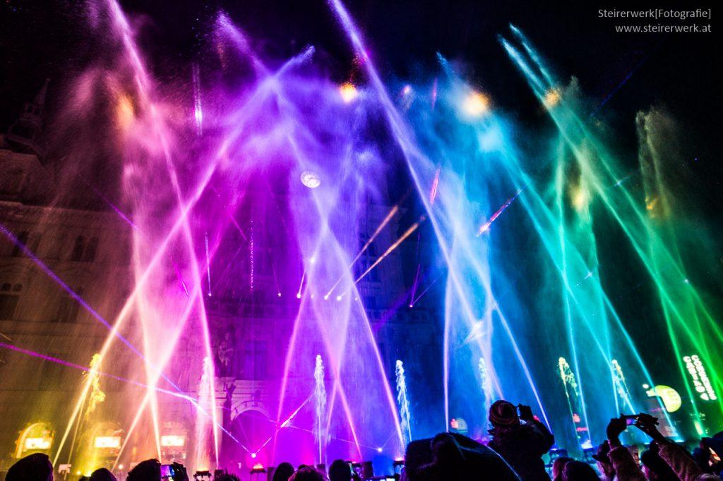 Silvester Lichtershow Graz