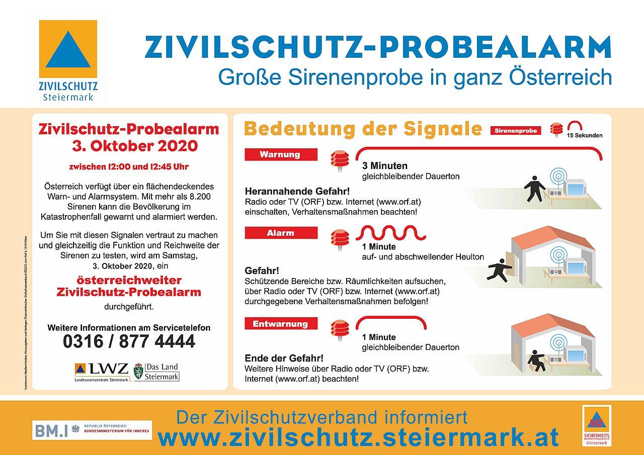 Bundesweiter Zivilschutz-Probealarm am 3. Oktober